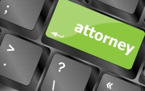 attorney word on keyboard key, notebook computer